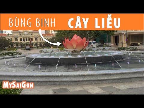 Mở cửa đài phun nước Bùng binh cây liễu Nguyễn Huệ.Open renew willow fountain walking st Saigon 2019