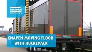 Huckepack with moving floor by Knapen Trailers