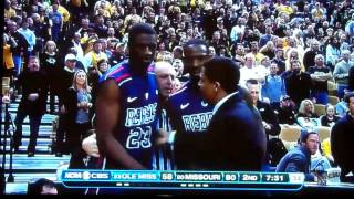 Ole miss Buckner get ejected for throwing punch