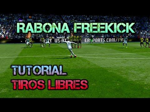 FIFA 15 TIRO LIBRE DE RABONA FREEKICK TUTORIAL