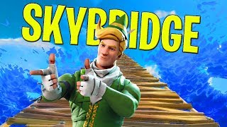 EXTREME SKY BRIDGE CHALLENGE! - FORTNITE FUNNY MOMENTS (Fortnite Battle Royale)