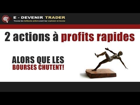 2 actions à profits rapides alors que les bourses chutent