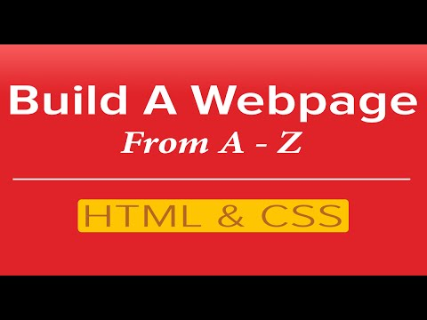 Web Design Courses - Learn HTML & CSS By Building A Webpage (For Beginners)