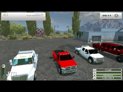 Farming Simulator 2013 Mods- International Hauler. F-450. Dodge Ram 5500