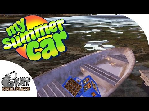 My Summer Car - Using the Boat Shortcut to Town, More Engine Building - Gameplay Highlights Ep 7