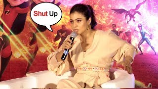 Kajol Shows Unbelivable ATTITUDE To Media At Incredibles 2 Hindi Launch Event