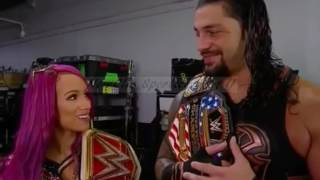 WWE Raw 07 June 2017 Roman Reigns and Sasha Banks KISSES  This is Imposible See what's happen