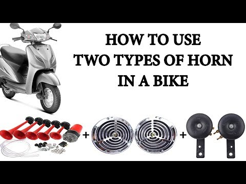 HOW TO USE SIMPLE AND POWER HORNS AT ONE TIME | HONDA ACTIVA | INSTALLATION