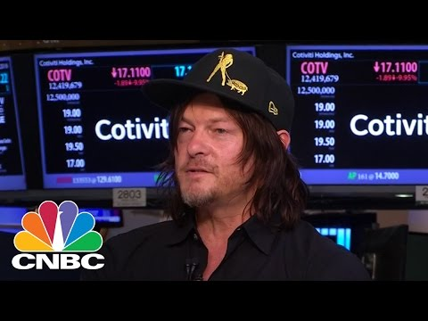 Norman Reedus At The New York Stock Exchange | CNBC