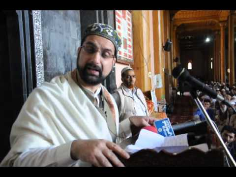 Mirwaiz Commenting about the New Government of India