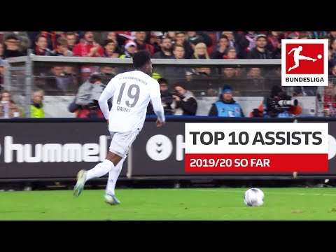 Top 10 Best Assists 201920 So Far - Coutinho, Sancho, Alario amp More