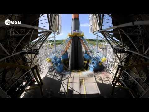 ESA Timelapse - Soyuz & GAIA