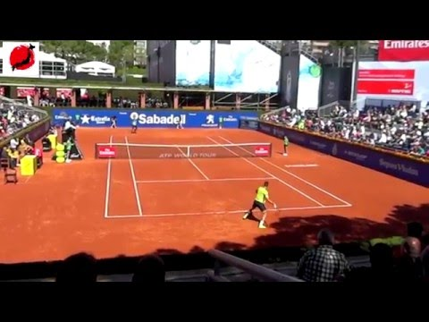 Highlight Gulbis vs Marton (Court level) Barcelona Open 2016 part 1