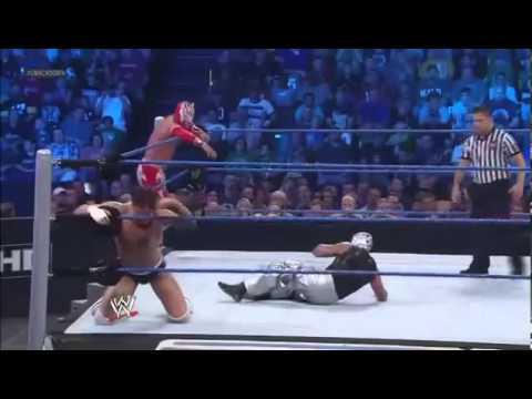 Sin Cara E Rey Mysterio Vs Cody Rhodes E The Miz video