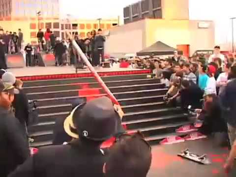 Nyjah Huston Wins Best Trick At Crossroads Best Trick 2010