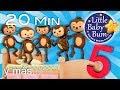 Cinco Monitos Cinco Patitos Cinco Gatitas Y Más Canciones Infantiles LittleBabyBum mp3