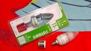 n:vision Flame 3watt CCFL Light Bulb