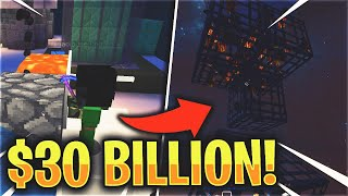 We placed $30 BILLION worth of SPAWNERS... | Minecraft Skyblock