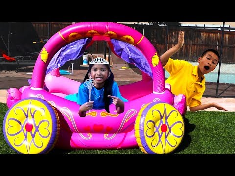 Wendy with Princess Carriage Inflatable Kids Toy