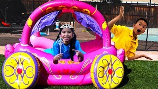 Wendy Pretend Play with Princess Carriage Inflatable Kids Toy
