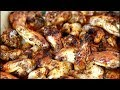 Sunday Dinner Hot Spicy Chicken Wings | OVEN BAKED CHICKEN #WINGS