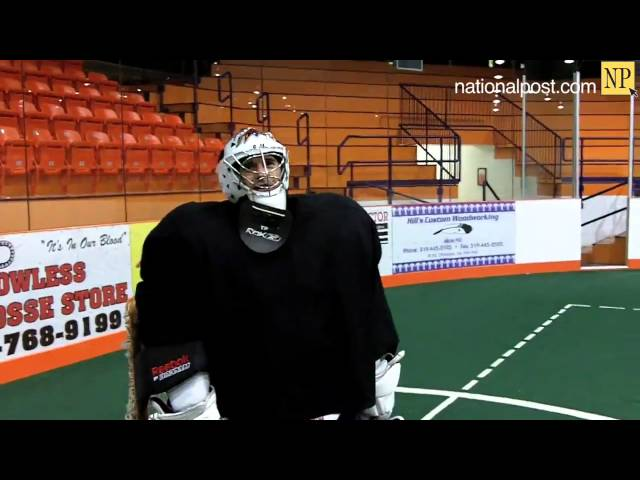 Pat Campbell gives Lacrosse goaltending tips