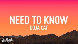Download lagu Doja Cat - Need To Know (Lyrics)