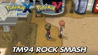Game | Pokemon X Y Where To Find TM94 Rock Smash | Pokemon X Y Where To Find TM94 Rock Smash