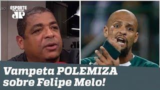 POLEMIZOU! OLHA o que Vampeta falou de Felipe Melo!