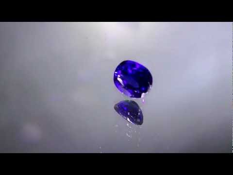 Natural Unheated Sri Lankan Blue Sapphire Violetish Blue 6 85 Cts video