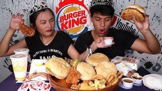 How to enjoy BURGER KING | MUKBANG