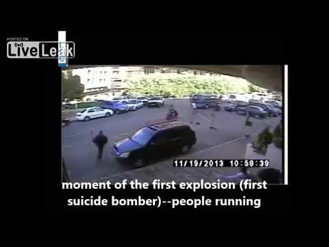 Lebanon moment of Beirut Twin suicide bombing Different angle