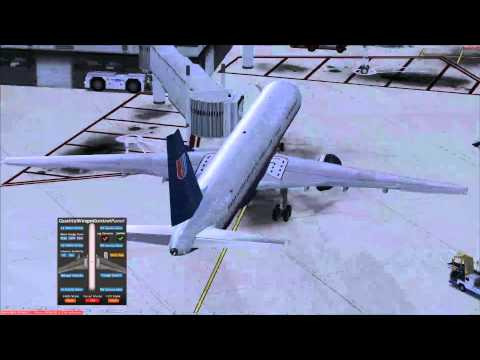 fsx Quality Wings 757 flight Tutorial. Orlando to Miami Florida. part 1 of 2