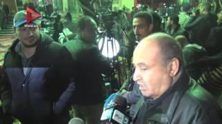 بالفيديو .. سامي عنان يظهر في عزاء ممدوح عبدالعليم