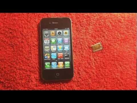Desbloquear o liberar Iphone 4 con una tarjeta Gevey // HD