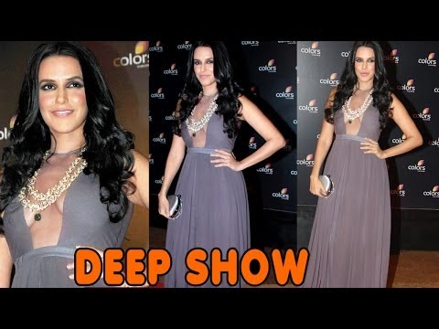 Neha Dhupia Transparent Cleavage Dress video