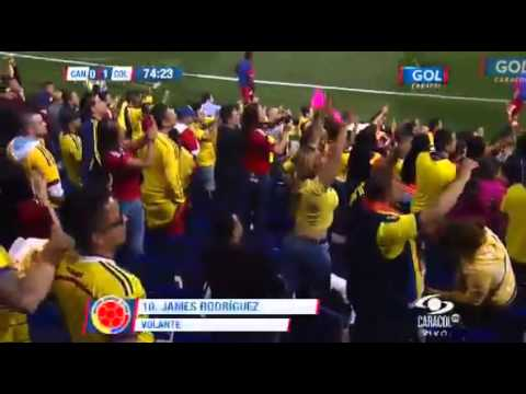 Increíble Golazo de James Rodriguez Colombia 1 vs Canadá 0 Amistoso Internacional 2014