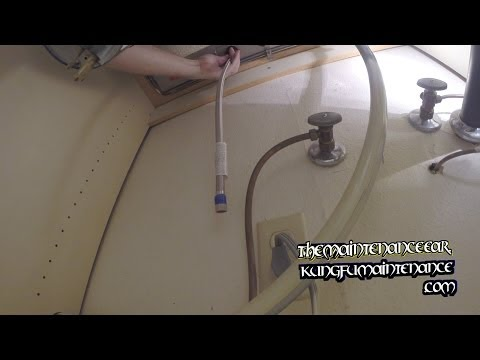 Installing Kitchen Faucet Supply Lines With Basin Wrench Video