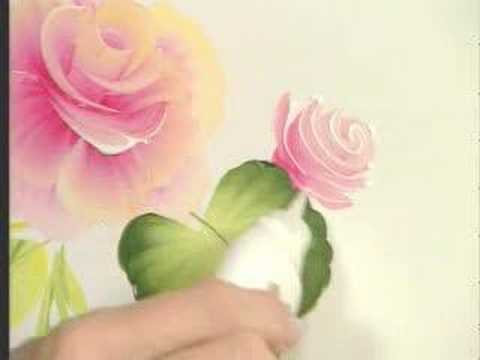 How To Paint Rose Using One Stroke In Acrylic