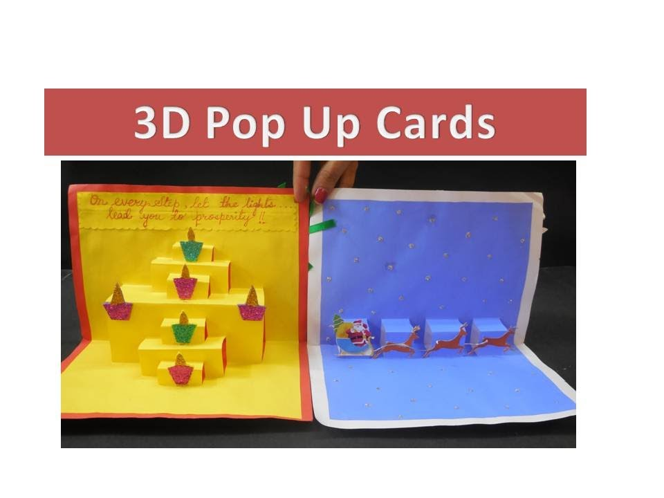 DIY - How to make 3D Pop Up Greeting Cards - YouTube