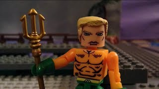 Aquaman minimates stop motion man of steel prequel lego jus