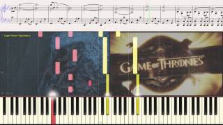 Game of Thrones (introduction) Игра Престолов (заставка) (piano cover)