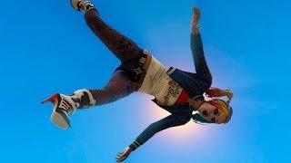GTA 5 Jumps Falls Harley Quinn Ragdolls (Funny Moments-Euphoria physics) Compilation #5