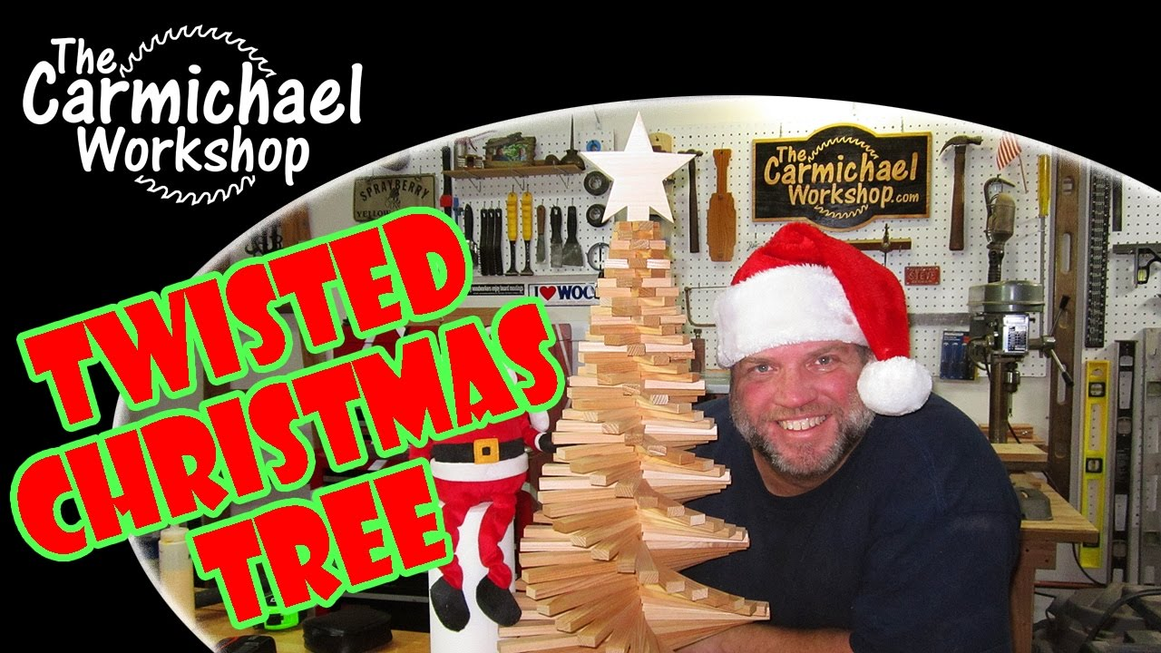 Twisted Christmas Tree - A Holiday Woodworking Project - YouTube
