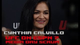 UFC on ESPN 7: Cynthia Calvillo media day scrum  (FULL)