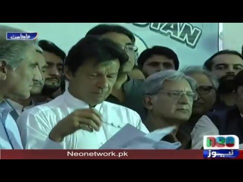 Imran Khan Press Conference After PM Nawaz Sharif Speech In Parliament 16 May 2016 | Neo News
