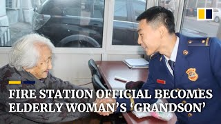 Chinese fire station official becomes elderly woman's 'grandson'