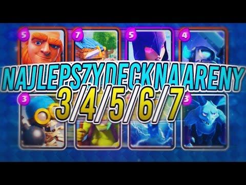 Clash Royale #11 NAJLEPSZY DECK 3.9 NA 3/4/5/6/7 ARENE! MEGA EPICKI SILNY DO WYGRYWANIA AREN! Pl