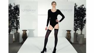 Tightsplease Jonathans Aston 40 Denier Hold Ups on Catwalk