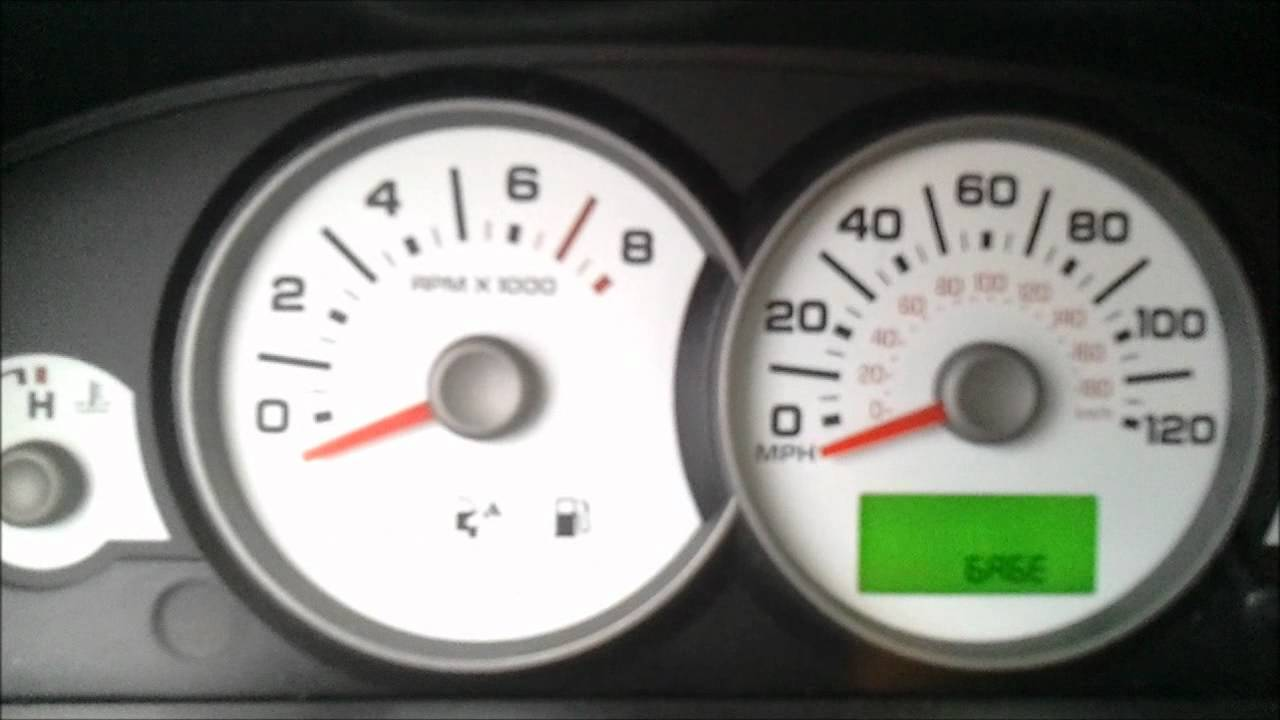 2006 Ford Escape Instrument Cluster Test Sweep Youtube